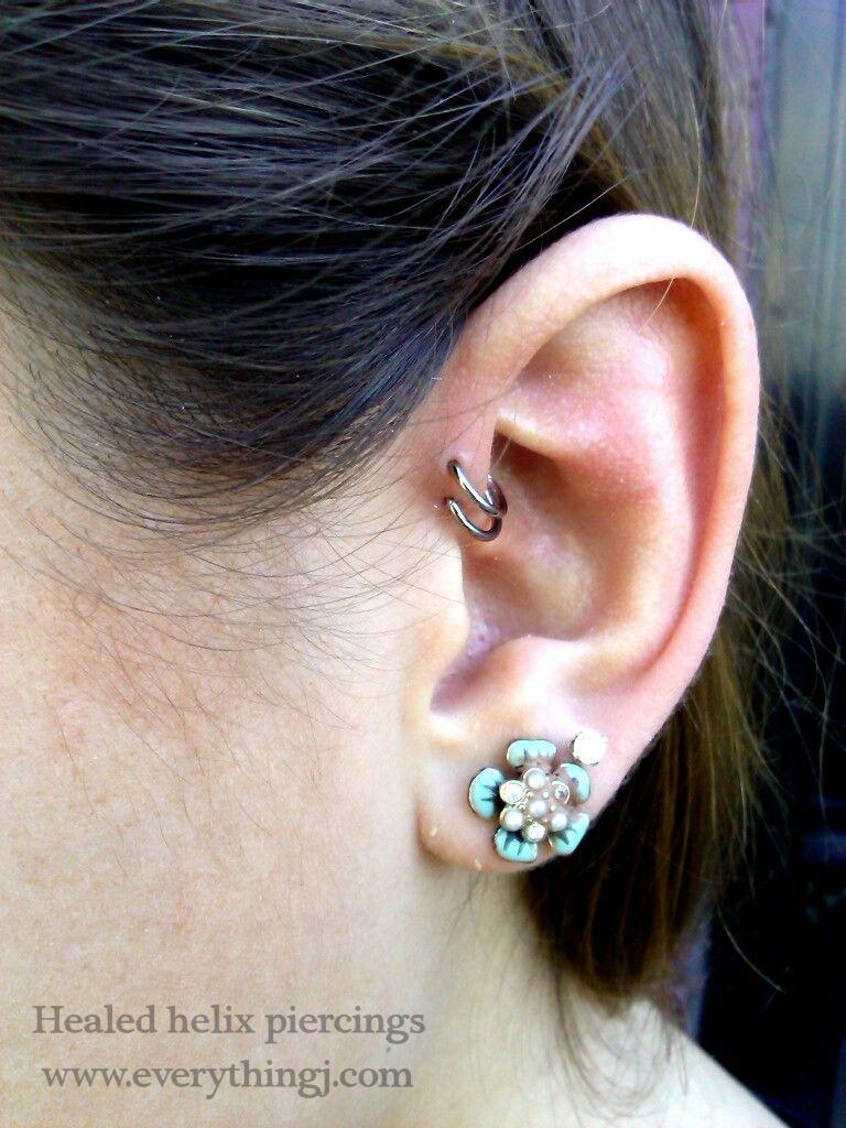 Healed Double Forward Helix Piercing By Insurgent6669 On Deviantart