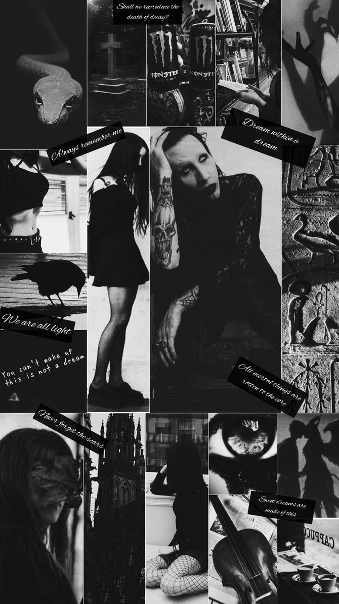 Wallpaper Collage Marilyn Manson By Solferr On Deviantart