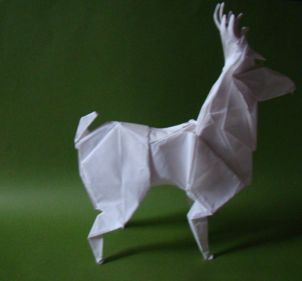 origami deer by origamiftw on deviantart