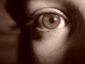 eye closeup - sepia 2 by vicariousxstock