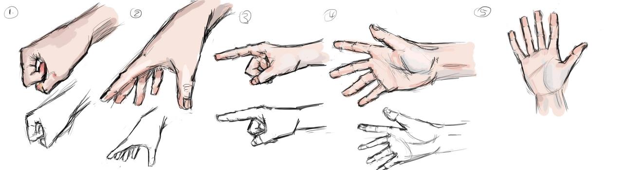 Hands (1-5) by muslacrima