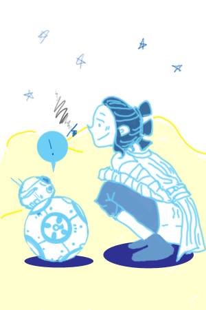 rey and bb8 by GoogleTranslate-Chan