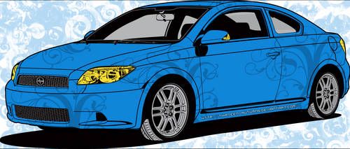 Scion Car Skin 'Blue'