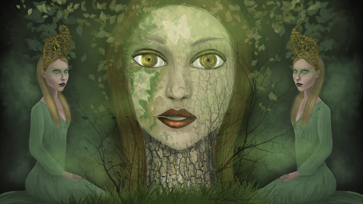 The Dream Of Druid by vespertinefaelivrin