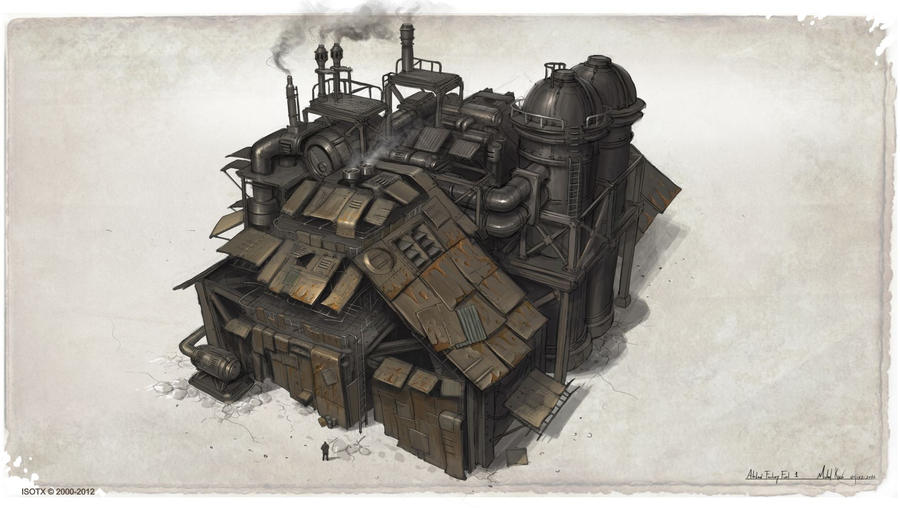Scrap factory concept by MichalKus