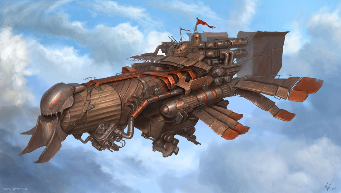 light marauder airship by MichalKus