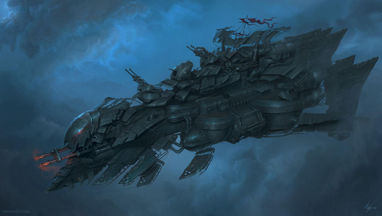Heavy Airship design by MichalKus