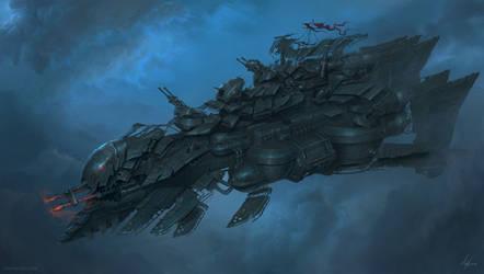 Heavy Airship design by MichalKus