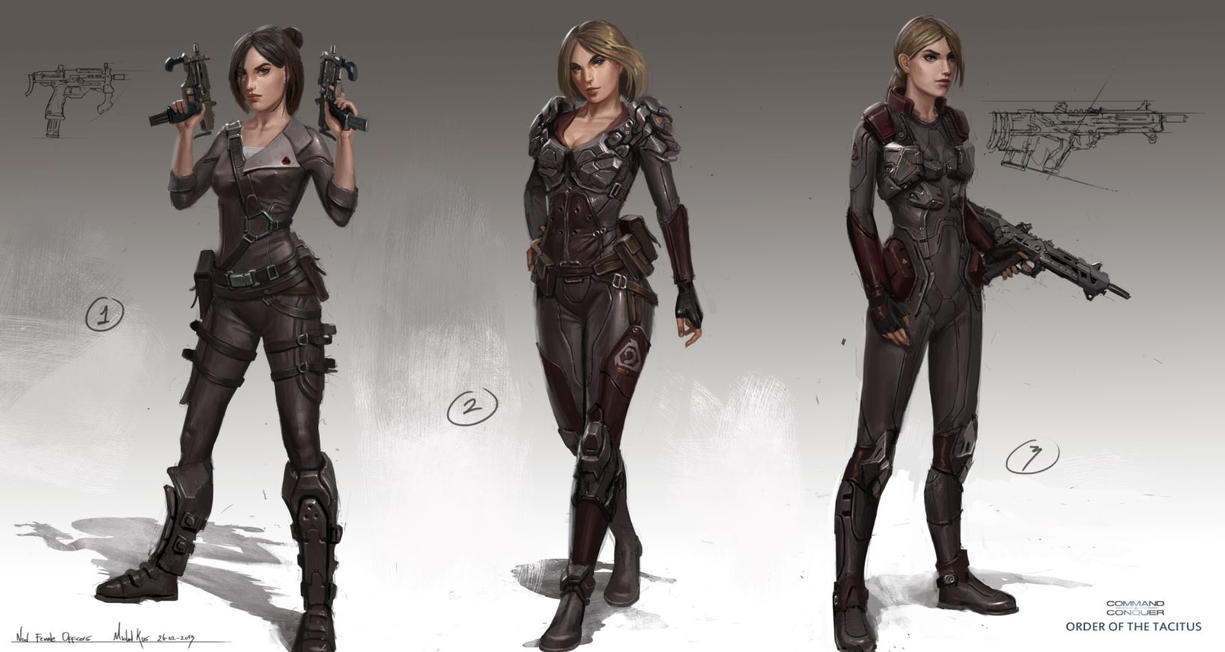 Nod femaleofficers1 by MichalKus