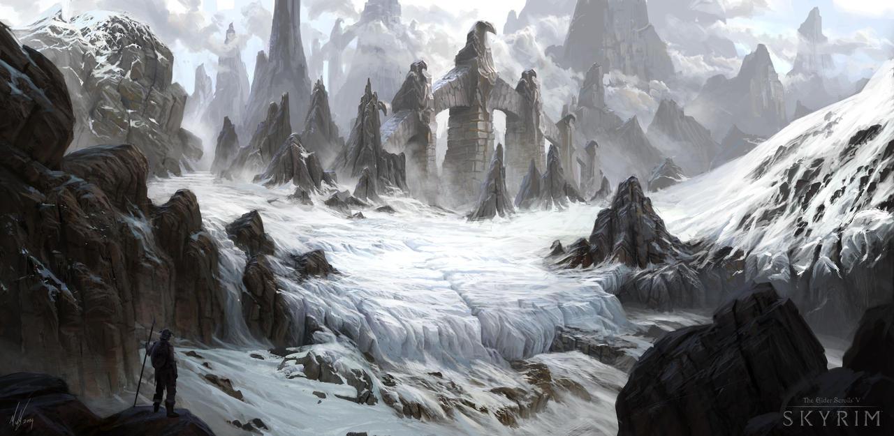 Skyrim - Hidden Peak Barrow by MichalKus