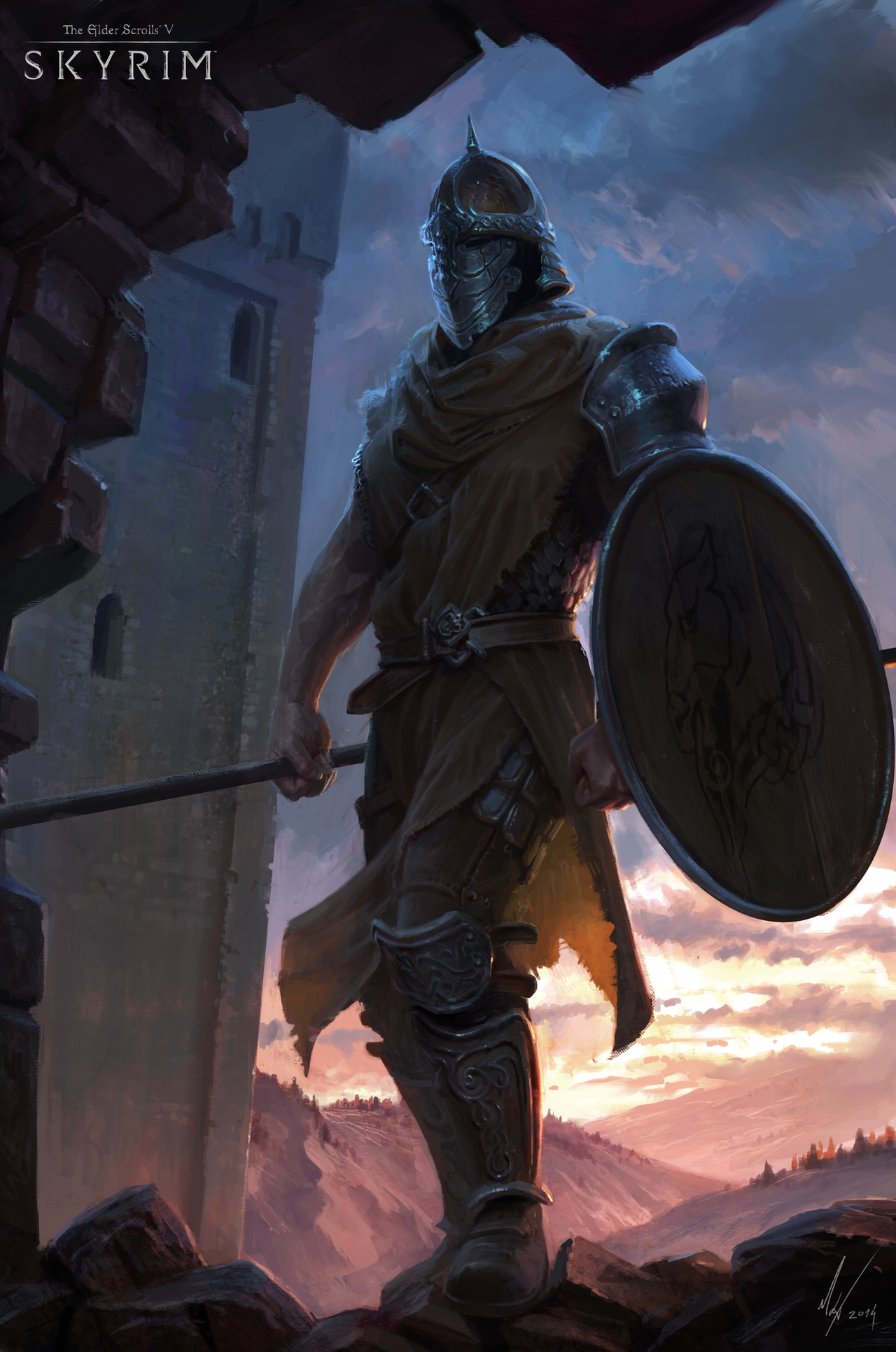 [Resim: skyrim___whiterun_guard_by_michalkus-d85zvp3.png]