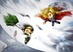 Loki and Thor and their storm