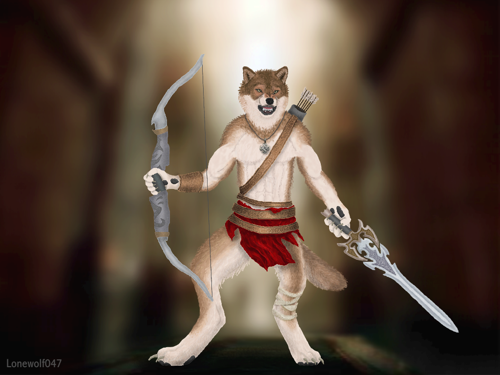 Wolf Anthro Warrior Wolf Warrior by Lonewolf047