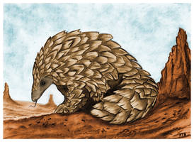 The Golden Pangolin by PhilipHarvey