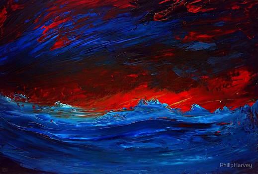 Crimson Sky Seascape