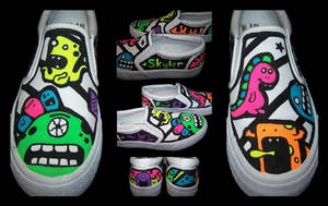 Custom Shoes: Monsters - Sides