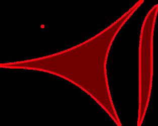 Simple curvy stepping arrow