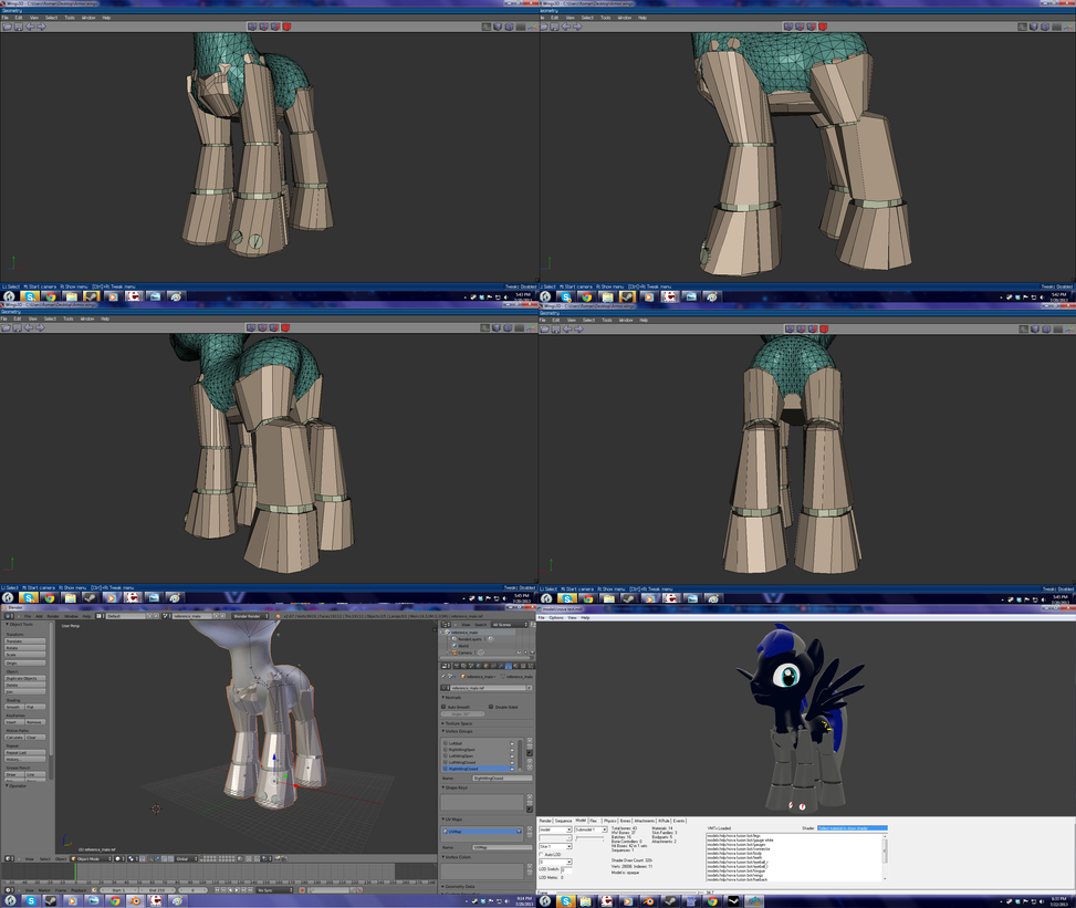 Mechanical legs for a Gmod pony (WIP) by PercyTechnic on DeviantArt