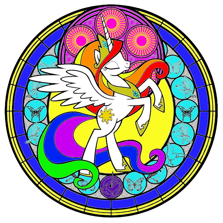 Celestia Stained Glass by Icyfox57
