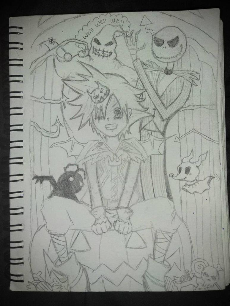 Kingdom Hearts Nightmare Before christmas Sketch by sadbluewaste on ...