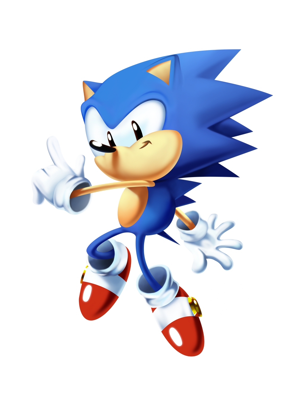 Toei Sonic Classicly Rendered 3 Timelapse By Tripplejaz