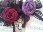 Romantic Ribbon Roses by SarahLaure