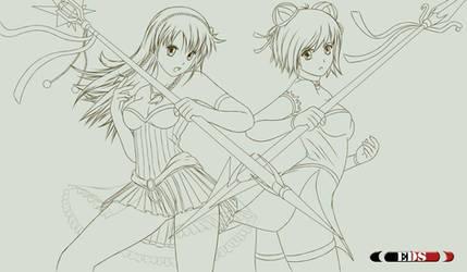 Crystal + Tori LineArt