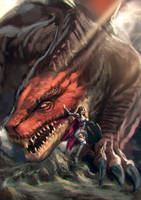 Dragon warrior by Zamberz
