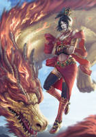 Celestial dragon by Zamberz