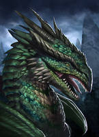 Green Dragon by Zamberz