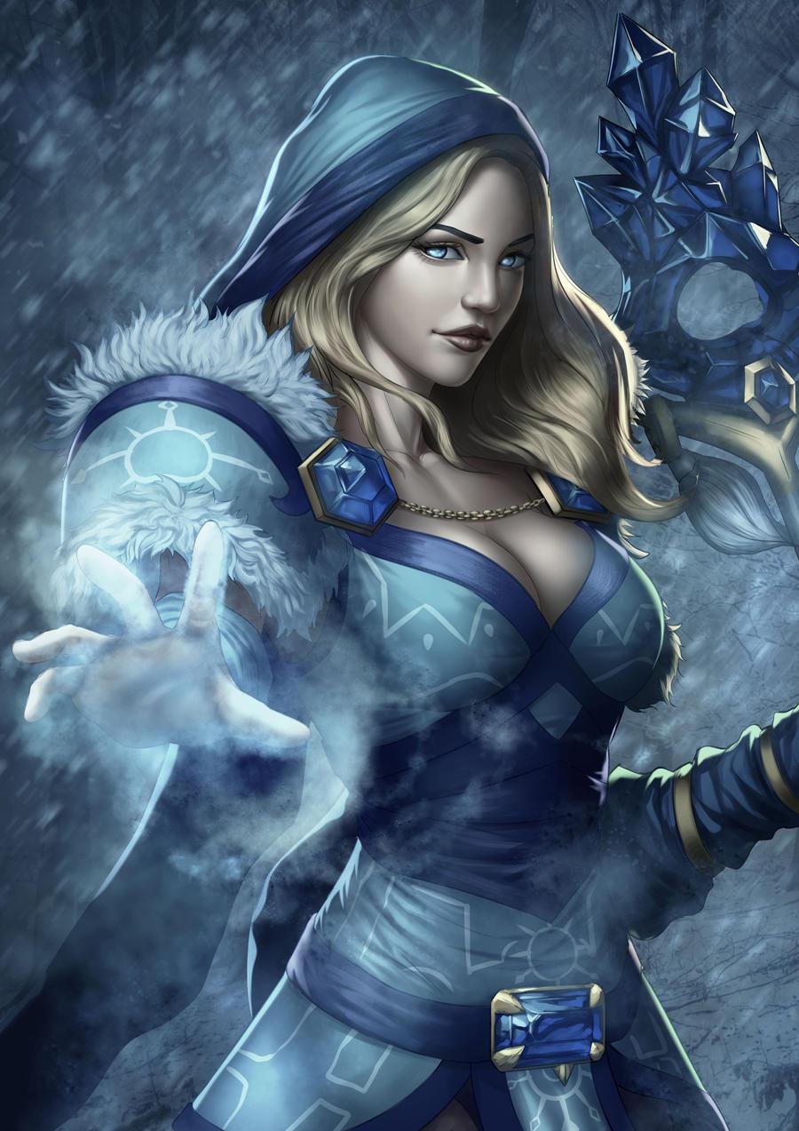 dota 2 crystal maiden fanart by derricksong on deviantart