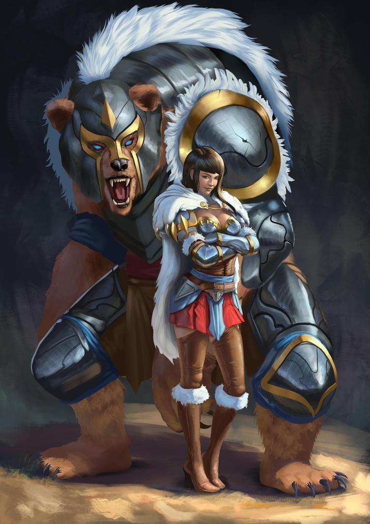 Armored bear warrior by Zamberz