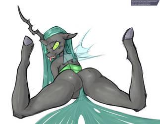 Queen Chrysalis by longtailshort
