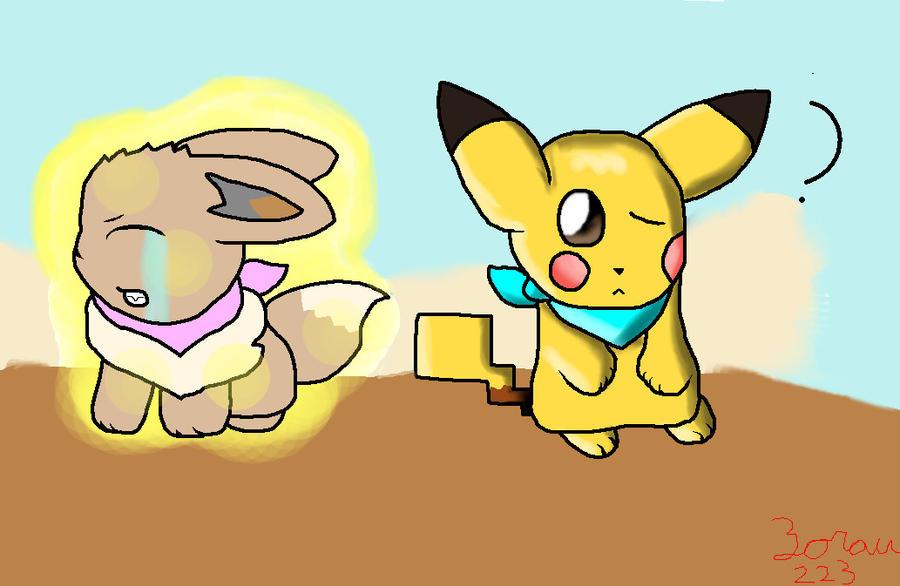 Eevee And Pikachu Pokemon