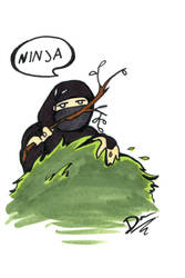 Ninja in the bush by artofdawn