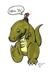 Dino Ride by artofdawn