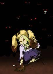 Little Girl Zombie by artofdawn