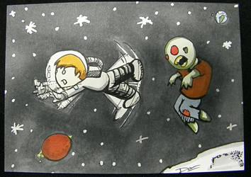 Sad Astronaut: Zombie by artofdawn