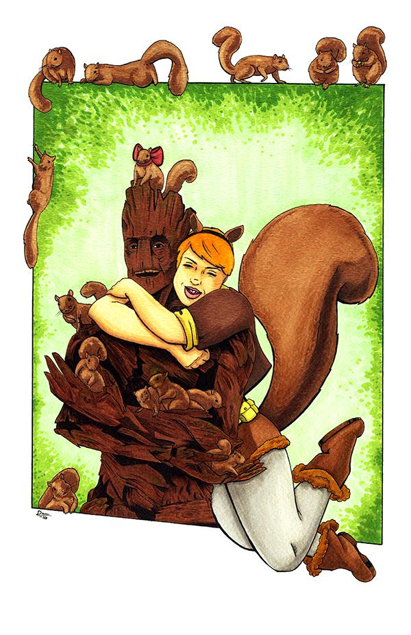 Squirrel Girl BFFs by artofdawn
