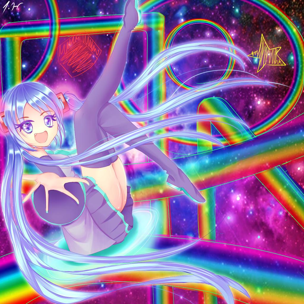 Miku::Rainbowroad by Mikriluna