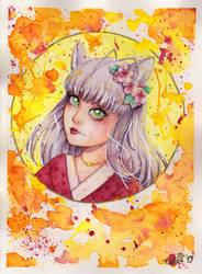Kitsune Watercolor