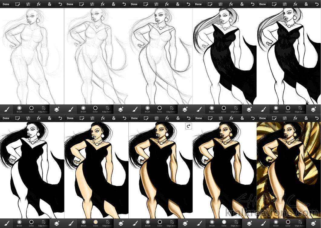 Black Dress - work in progress (2014) by kmlkreations