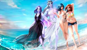 Girl's Beach Day