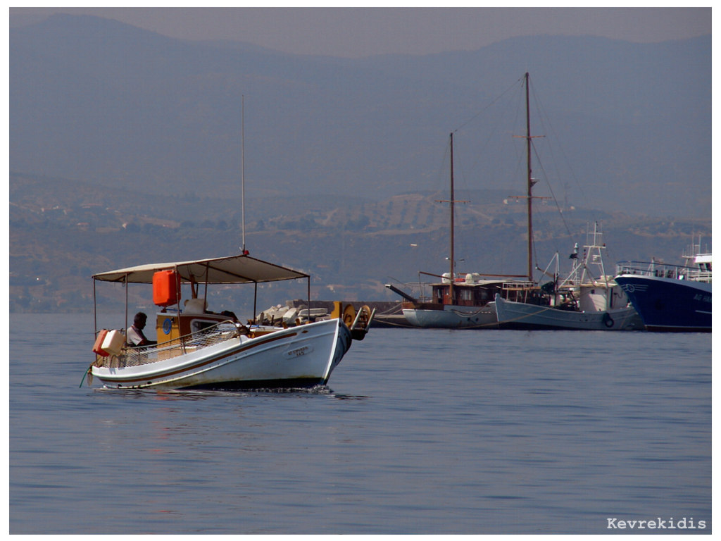Greek Fishing Boat by Kevrekidis