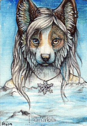 Snowflake ACEO by Lunakia