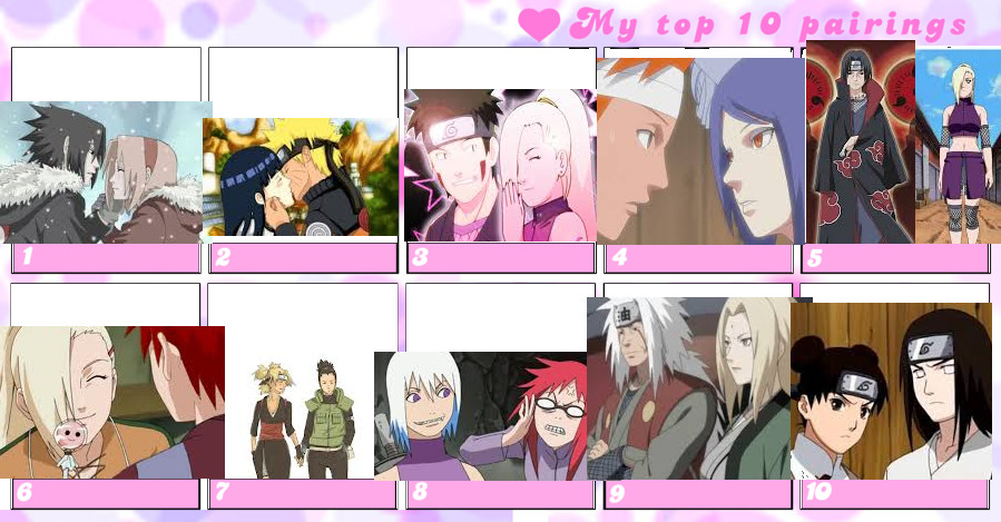 My top 10 Naruto couples by pipomonkeys on DeviantArt