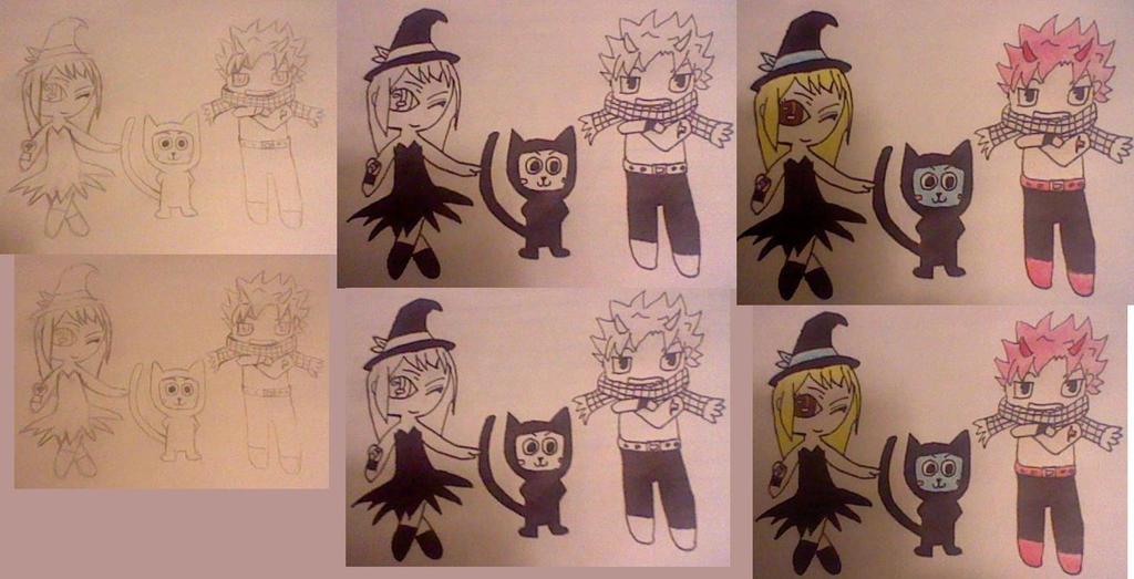 Fairy Tail Halloween by pipomonkeys