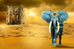 Blue Elephant by Hossam2