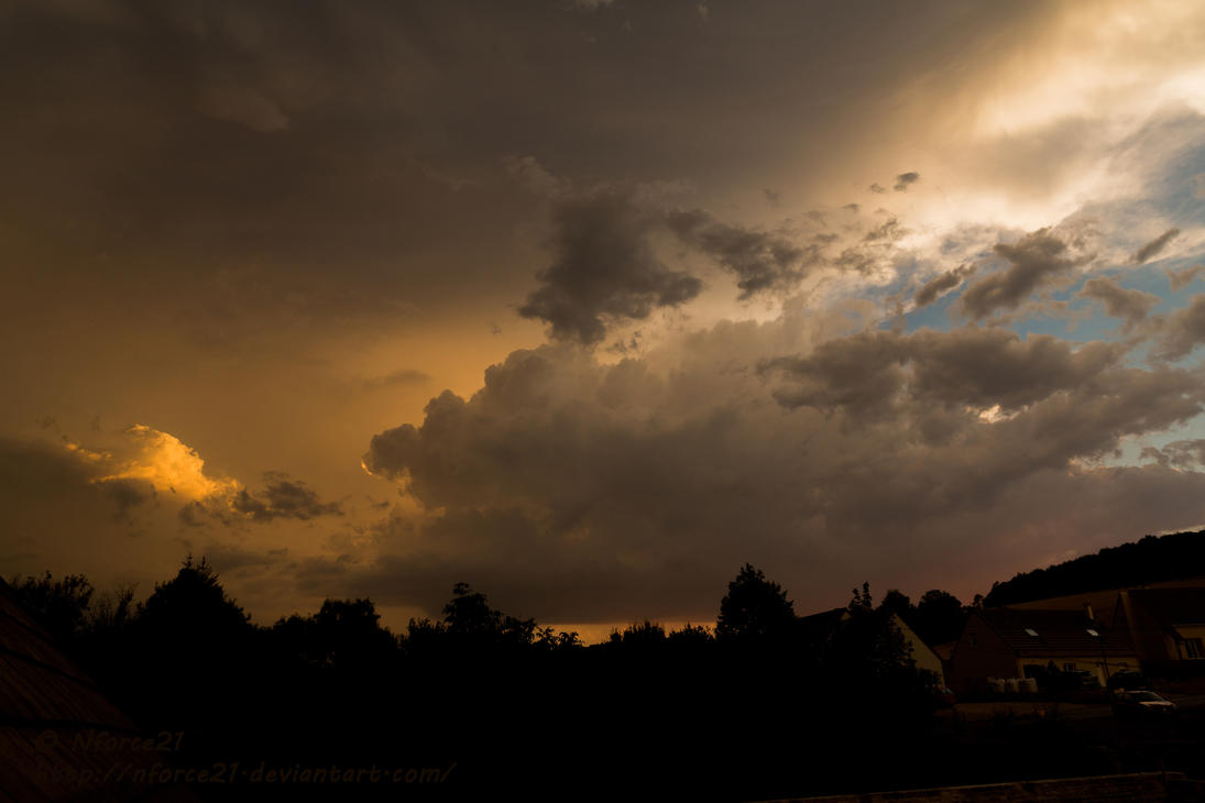 Thunderstorm on sunset by Nforce21