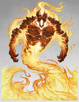 Fire Elemental - Pathfinder by Nigreda